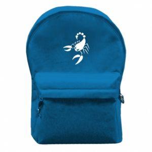 Plecak z przednią kieszenią Zły skorpion