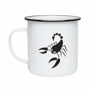 Kubek emaliowane Zły skorpion - PrintSalon