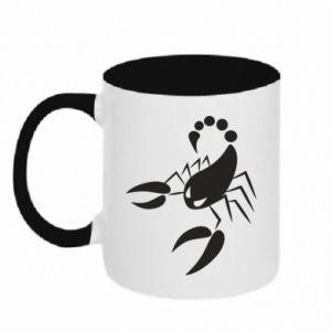 Kubek dwukolorowy Zły skorpion - PrintSalon