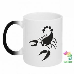 Chameleon mugs Angry scorpion