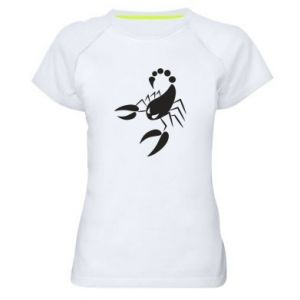 Damska koszulka sportowa Zły skorpion - PrintSalon
