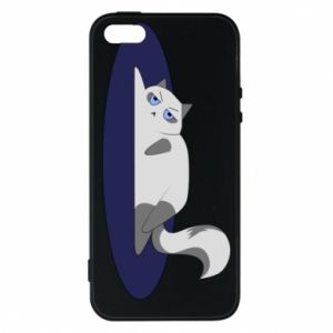 Phone case for iPhone 5/5S/SE Tired cat - PrintSalon