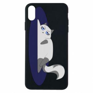 Etui na iPhone Xs Max Zmęczony kot