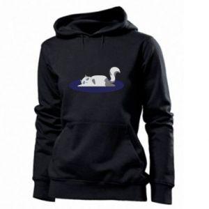 Women's hoodies Tired cat - PrintSalon