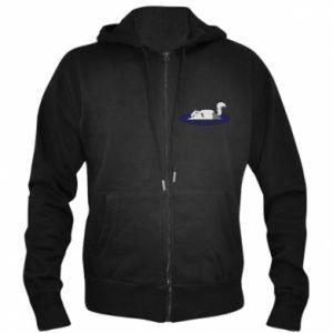 Men's zip up hoodie Tired cat - PrintSalon