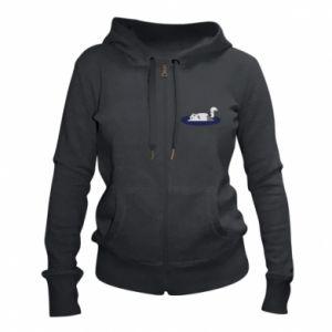 Women's zip up hoodies Tired cat - PrintSalon