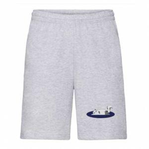 Men's shorts Tired cat - PrintSalon