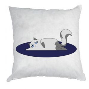 Pillow Tired cat - PrintSalon