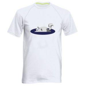 Men's sports t-shirt Tired cat - PrintSalon