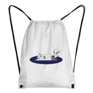 Backpack-bag Tired cat - PrintSalon