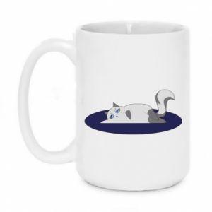Mug 450ml Tired cat - PrintSalon