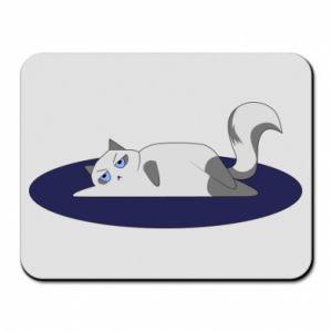 Mouse pad Tired cat - PrintSalon