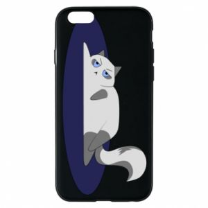 Phone case for iPhone 6/6S Tired cat - PrintSalon