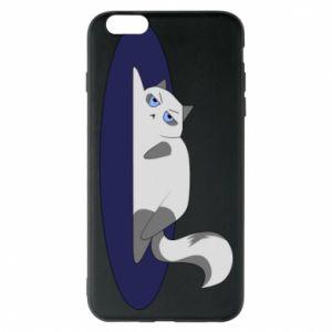 Phone case for iPhone 6 Plus/6S Plus Tired cat - PrintSalon