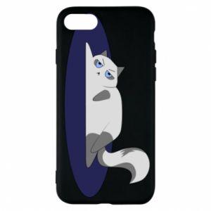 Phone case for iPhone 7 Tired cat - PrintSalon