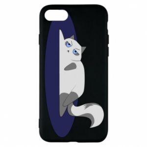 Phone case for iPhone 8 Tired cat - PrintSalon