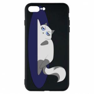 Phone case for iPhone 8 Plus Tired cat - PrintSalon