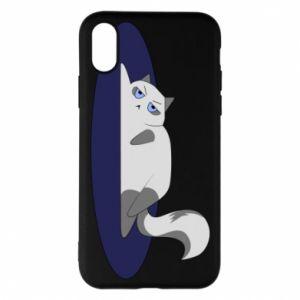 Phone case for iPhone X/Xs Tired cat - PrintSalon