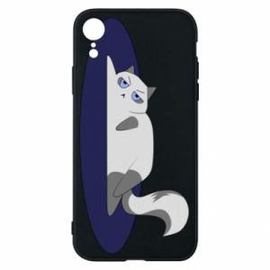 Phone case for iPhone XR Tired cat - PrintSalon
