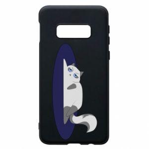 Phone case for Samsung S10e Tired cat - PrintSalon