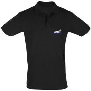 Men's Polo shirt Tired cat - PrintSalon