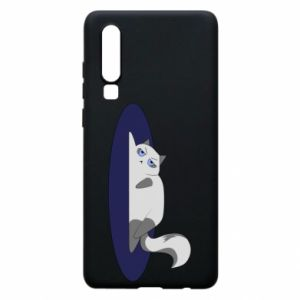 Phone case for Huawei P30 Tired cat - PrintSalon
