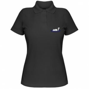 Women's Polo shirt Tired cat - PrintSalon
