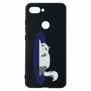 Phone case for Xiaomi Mi8 Lite Tired cat - PrintSalon