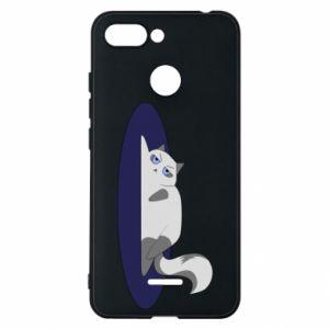 Phone case for Xiaomi Redmi 6 Tired cat - PrintSalon
