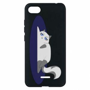 Phone case for Xiaomi Redmi 6A Tired cat - PrintSalon