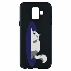 Phone case for Samsung A6 2018 Tired cat - PrintSalon