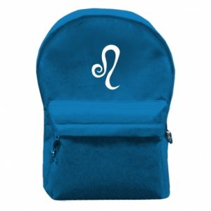 Backpack with front pocket Leo sign