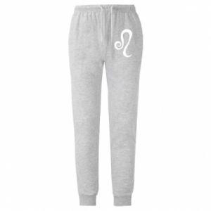Męskie spodnie lekkie Znak Lew - PrintSalon