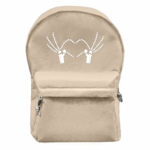 Backpack with front pocket Heart sign