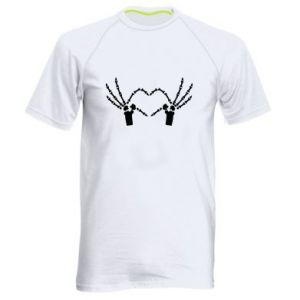 Koszulka sportowa męska Znak serca