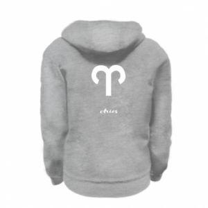 Kid's zipped hoodie % print% Zodiac sign Aries
