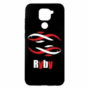 Etui na Xiaomi Redmi Note 9/Redmi 10X Znak zodiaku Ryby