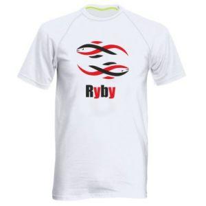 Męska koszulka sportowa Znak zodiaku Ryby