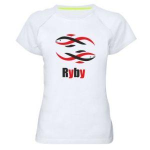 Damska koszulka sportowa Znak zodiaku Ryby