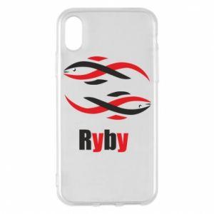 Etui na iPhone X/Xs Znak zodiaku Ryby