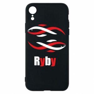 Etui na iPhone XR Znak zodiaku Ryby