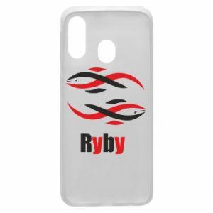 Etui na Samsung A40 Znak zodiaku Ryby