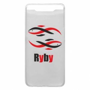 Etui na Samsung A80 Znak zodiaku Ryby