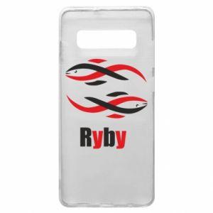 Etui na Samsung S10+ Znak zodiaku Ryby