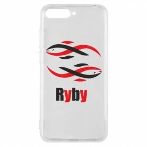 Etui na Huawei Y6 2018 Znak zodiaku Ryby
