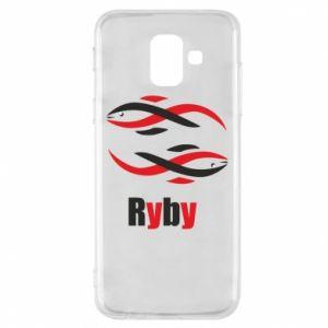 Etui na Samsung A6 2018 Znak zodiaku Ryby