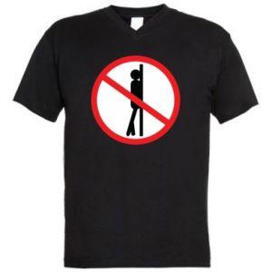 Męska koszulka V-neck Znak - PrintSalon