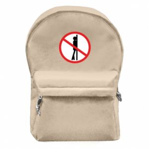 Backpack with front pocket Sign