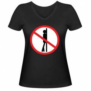 Damska koszulka V-neck Znak - PrintSalon
