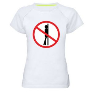 Damska koszulka sportowa Znak - PrintSalon